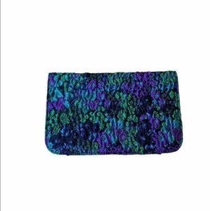 Urban Outfitters Metallic Floral Clutch Wallet